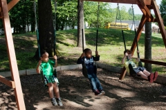 Students-Swinging-at-Summer-Camp-near-Burlington-and-Greensboro-NC