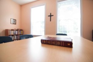 Bible Setting on Table at Burlington Christian School