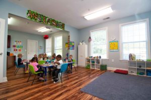 Large Classroom with Students Working at Faith Christian Academy - Private Christian School between Burlington and Greensboro NC